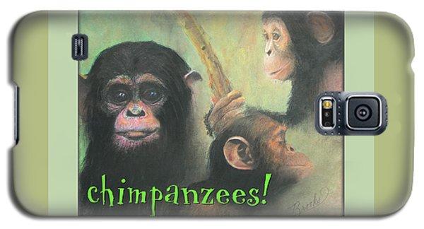 Galaxy S5 Case featuring the pastel Chimpanzees - Art 4 Kids by Brooks Garten Hauschild