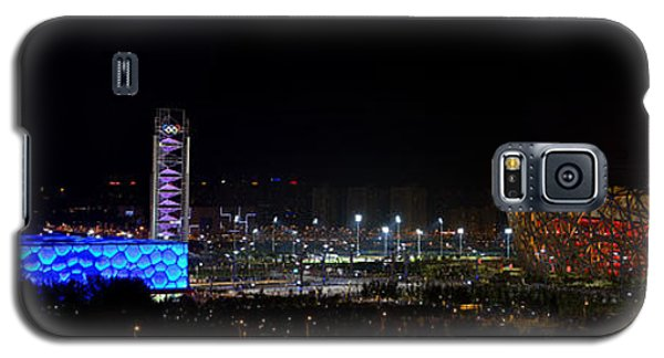 China Beijing Panorama Water Cube And Birds Nest Stadiums Galaxy S5 Case