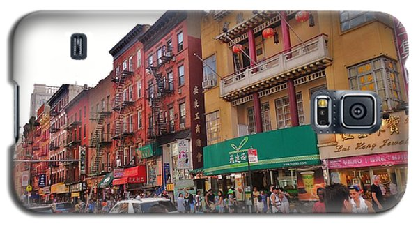 Galaxy S5 Case featuring the photograph China Town Nyc by Robin Coaker