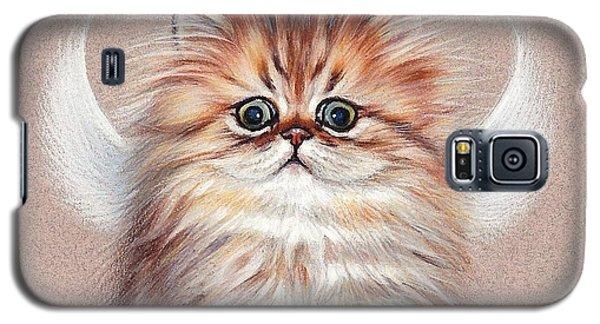 Chinchilla Kitten Angel Galaxy S5 Case by Elena Kolotusha