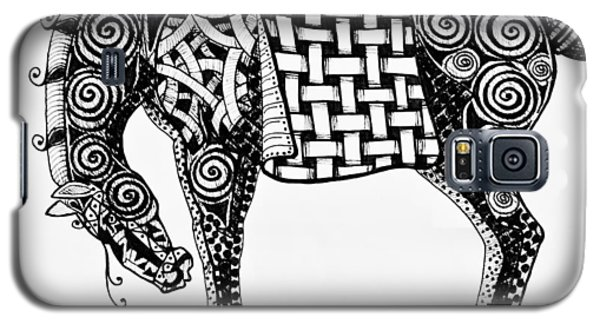 Chinese Horse - Zentangle Galaxy S5 Case