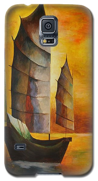 Chinese Junk In Ochre Galaxy S5 Case