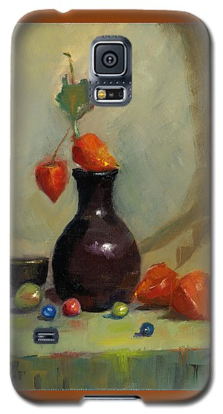 Galaxy S5 Case featuring the painting Chinese Lanterns And Marbles by Susan Thomas