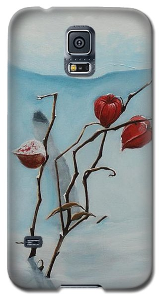 Galaxy S5 Case featuring the painting Chinese Lanterns by Jesslyn Fraser