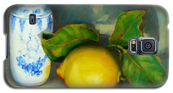 Chinese Pot And Lemon Galaxy S5 Case by Margaret Stockdale