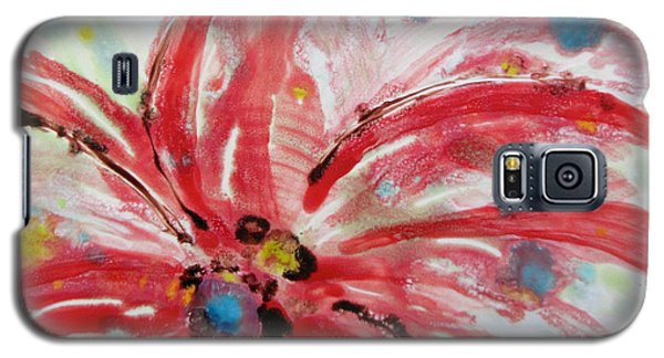 Galaxy S5 Case featuring the painting Chinese Red Flower by Joan Reese
