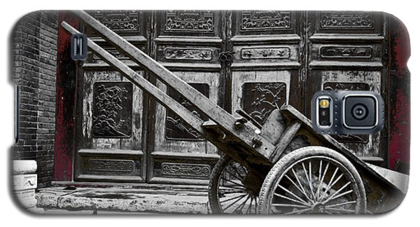 Chinese Wagon In Black And White Xi'an China Galaxy S5 Case