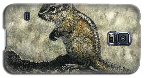 Galaxy S5 Case featuring the drawing Chipmunk  by Sandra LaFaut