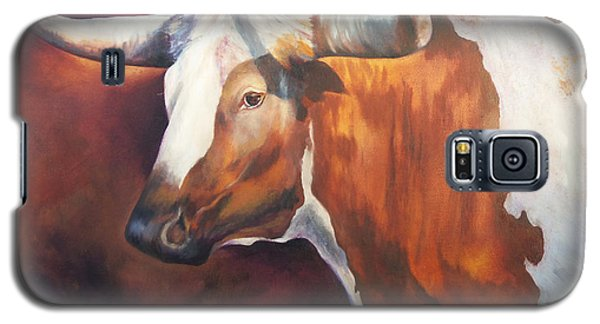Chisholm Longhorn Galaxy S5 Case by Karen Kennedy Chatham
