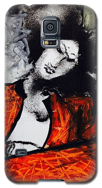 Galaxy S5 Case featuring the drawing Chloe by Helen Syron