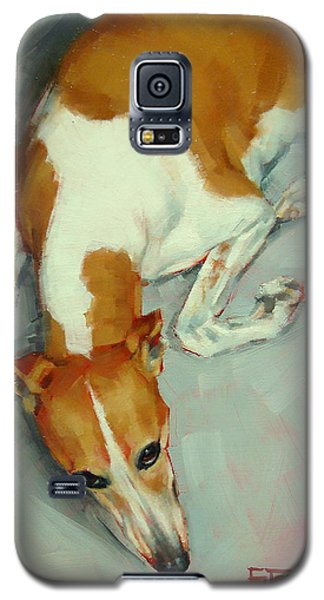 Chloe The Whippet Galaxy S5 Case by Margaret Stockdale