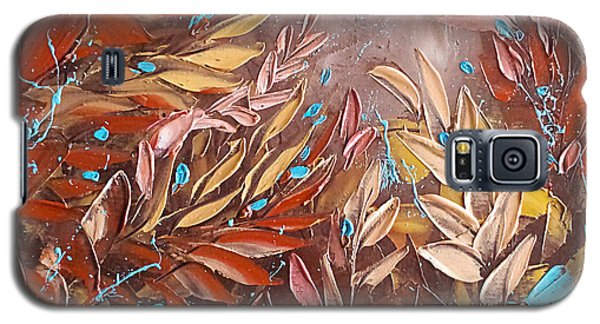 Chocolate And Turquoise Abstract Art Oil Painting By Ekaterina Chernova Galaxy S5 Case