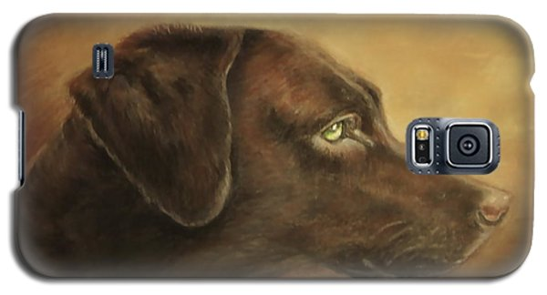 Chocolate Lab Galaxy S5 Case by Patricia Schneider Mitchell