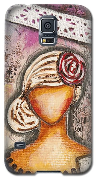 Choose Your Own Story Inspirational Mixed Media Folk Art  Galaxy S5 Case