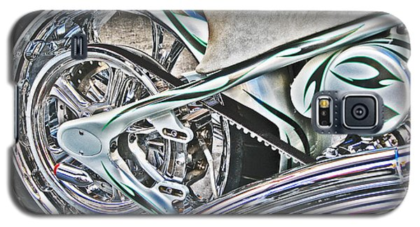 Galaxy S5 Case featuring the photograph Chopper Belt Drive Detail by Samuel Sheats