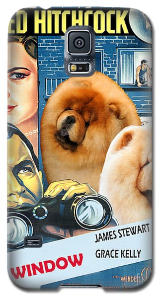 Chow Chow Art Canvas Print - Rear Window Movie Poster Galaxy S5 Case