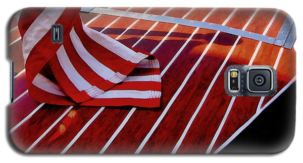 Chris Craft With American Flag Galaxy S5 Case