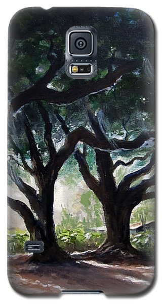 Galaxy S5 Case featuring the painting Chris's Oaks by Carol Hart