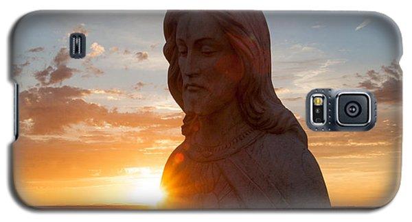 Christ And Sun Galaxy S5 Case by Shirley Heier