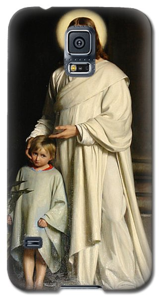 Christ And The Child Galaxy S5 Case by Carl Bloch