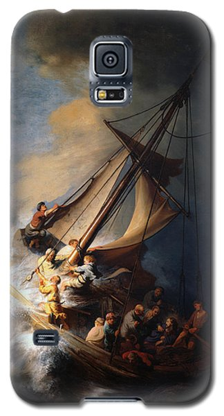 Christ And The Storm Galaxy S5 Case by Rembrandt