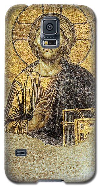Christ Pantocrator-detail Of Deesis Mosaic Hagia Sophia-judgement Day Galaxy S5 Case