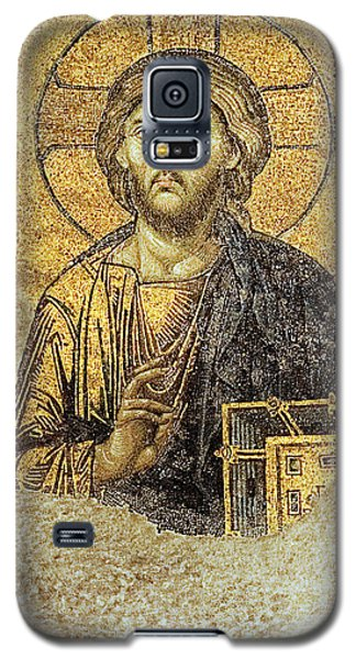 Christ Pantocrator-detail Of Deesis Mosaic Hagia Sophia-judgement Day Galaxy S5 Case