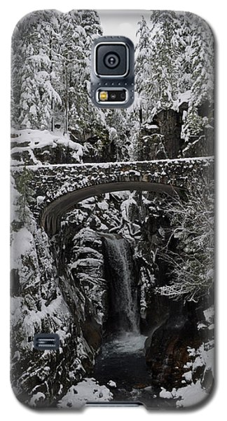 Galaxy S5 Case featuring the photograph Christine Falls In The Winter by Tikvah's Hope