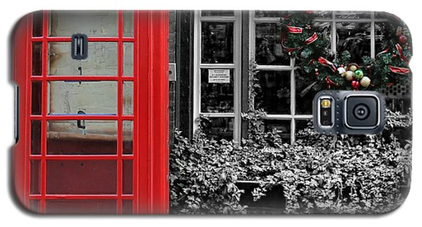 Christmas - The Red Telephone Box And Christmas Wreath IIi Galaxy S5 Case