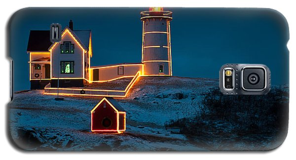 Christmas At Nubble Light Galaxy S5 Case