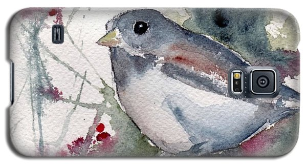 Galaxy S5 Case featuring the painting Christmas Birds 01 by Anne Duke