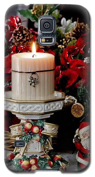 Galaxy S5 Case featuring the photograph Christmas Candle by Ivete Basso Photography