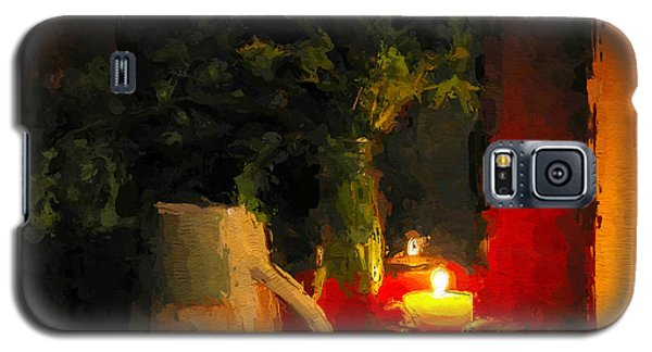 Galaxy S5 Case featuring the painting Christmas Candle Light by Wayne Pascall