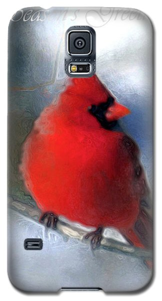 Christmas Card - Cardinal Galaxy S5 Case