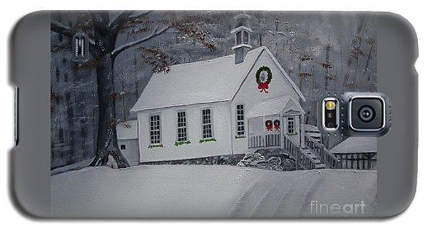 Christmas Card - Snow - Gates Chapel Galaxy S5 Case by Jan Dappen