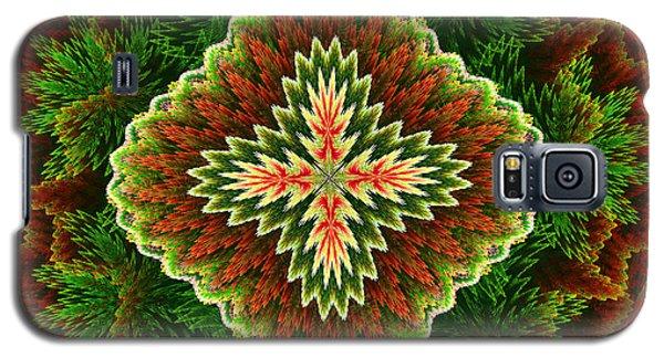 Galaxy S5 Case featuring the digital art Christmas Carpet by Svetlana Nikolova