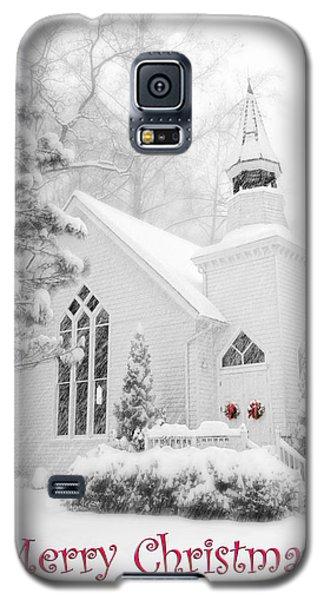 Historic Church Oella Maryland - Christmas Card Galaxy S5 Case