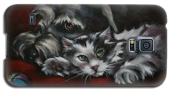 Galaxy S5 Case featuring the painting Christmas Companions by Cynthia House
