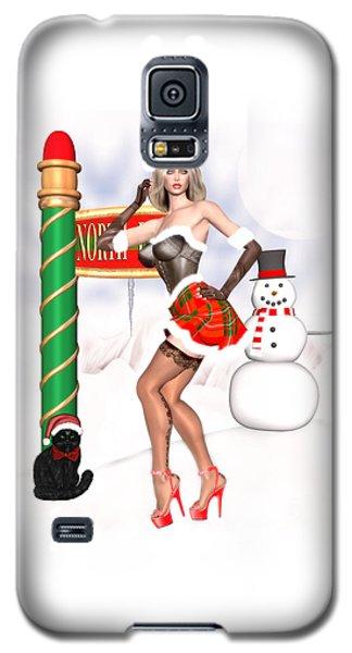 Christmas Elf Cleo Galaxy S5 Case by Renate Janssen