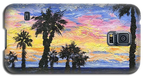 Galaxy S5 Case featuring the painting Christmas Eve In Redondo Beach by Jamie Frier