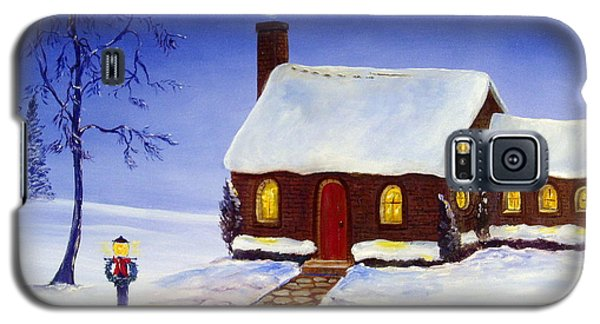 Galaxy S5 Case featuring the painting Christmas Eve by Lee Piper