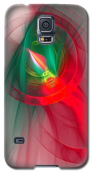 Christmas Flame Galaxy S5 Case by Victoria Harrington