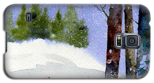 Galaxy S5 Case featuring the painting Christmas Forest 02 by Anne Duke