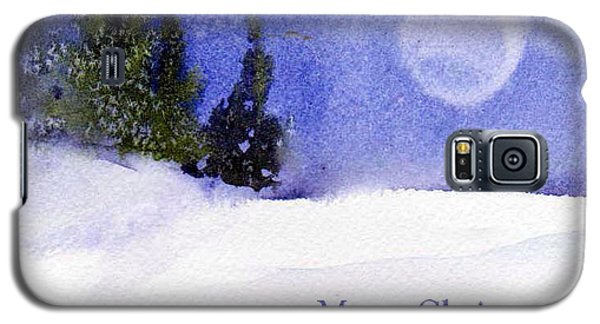 Galaxy S5 Case featuring the painting Christmas Forest  03 by Anne Duke