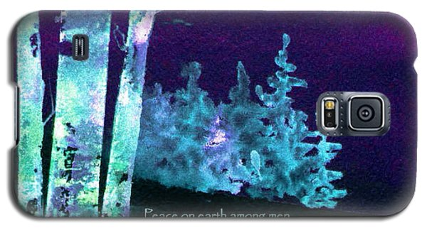 Galaxy S5 Case featuring the painting Christmas Forest by Anne Duke