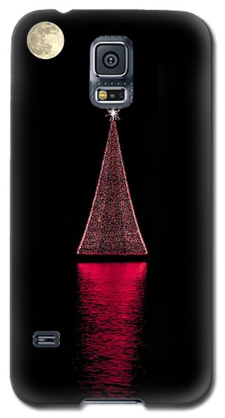 Christmas Full Moon Galaxy S5 Case