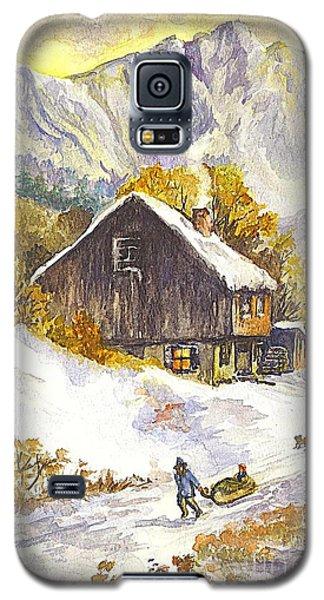 Galaxy S5 Case featuring the painting A Winter Wonderland Part 1 by Carol Wisniewski