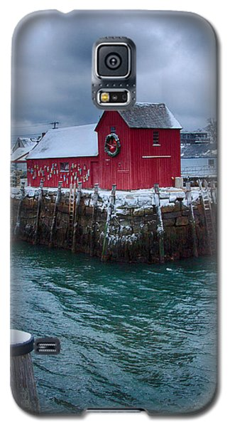 Christmas In Rockport Massachusetts Galaxy S5 Case by Jeff Folger