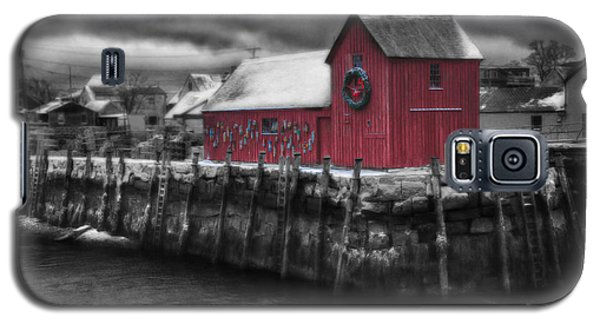 Christmas In Rockport New England Galaxy S5 Case by Jeff Folger