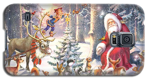 Elf Galaxy S5 Case - Christmas In The Forest by Zorina Baldescu